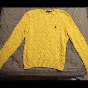 Polo By Ralph Lauren Sweaters Polo Ralph Lauren Yellow Cable Knit Sweater Men Lg Poshmark